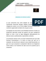 BRIGADA DE COCINA CLÁSICA