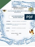 Las concesiones del estado Peruano