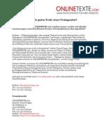 www.onlinetexte.com | Pressemeldung 2011-02 | Woher kommen die guten Texte einer Textagentur?