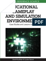 David Kaufman, Louise Sauve - Educational Gameplay and Simulation Environments_ Case Studies and Lessons Learned (Premier Reference Source) (2010)
