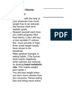 Tips to Reduce Obesity