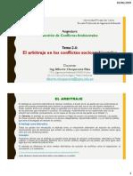 Tema 2.4 (a) El arbitraje en los conflictos socioambientales
