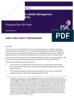 UK FSA Guidance Consultation - Senior Asset and Liability Management Committee Practices
