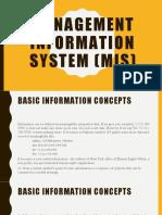Management information system (mis)