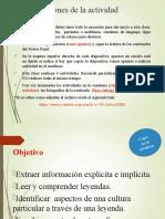 1° PPT LA LEYENDA Quinto básico