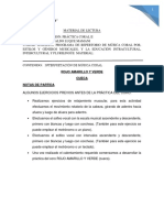 MATERIAL DE LECTURA DEL CORO (ROJO,AMARILLO Y VERDE)