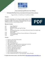 REFM CLE Partnerships Class Description