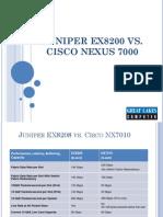 Juniper EX8200 vs Cisco Nexus 7000