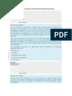 Cuestionario de entrada curso tutorial de elaboración de proyectos