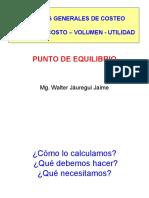 PUNTO DE EQUILIBRIO - MEZCLA DE PRODUCTOS