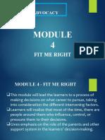 CAREER ADVOCACY_module4