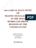 Historical Data Study of Traffic Signalization in the Most Hurricane Prone Regions of the United States