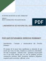 sesión 01 FUENTES ROMÁNICAS DEL DERECHO