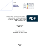 Transporturi Programa Titularizare 2010 M