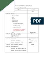 Jadual di Uni Riau_wki