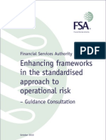 UK FSA Guidance Consultation - Enhancing Frameworks in the Standardized Approach (TSA) to Operational Risk