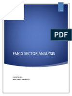 FMCG Sector Industry Analysis Final