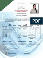 Teacher's Program (Lesil) 2020