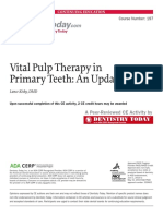 Vital pulp therapy in primary teeth