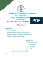 Organizational Structure of Bata