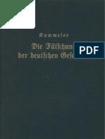 Wilhelm Kammeier - Die Faelschung Der Deutschen Geschichte (1935, 308 S., Scan, Fraktur)