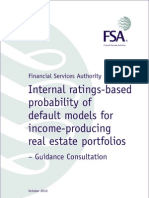 UK FSA Guidance Consultation - Internal Ratings-based Probability of Default Models for Income-producing Real Estate Portfolios
