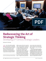 12. Rediscovering the Art of Strategic Thinking