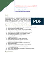 International Journal of Mobile ad hoc and sensor networks(IJMSN)