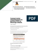 Comment monter automatiquement les partitions NTFS au démarrage d'Ubuntu – Korben