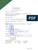 Autovectores Autovalores y Matrices Diagonalizables