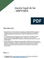 Constitucion legal de las MIPYMES