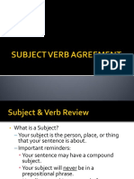 Subject Verb Agreement 10 Rules
