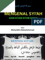 1. Syiah dari kitab-kitab syiah (Kyai Muhyidn)