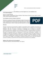 Trayectorias socio-educativas en el Nivel Superior-UNIPE- 2018