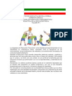 TALLER DIDÁCTICA DE LA EDUCACIÓN FÍSICA N° 1