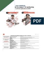 Guia Comercial Internet en tu casa y DTH del 1 al 30 septiembre 2019