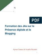 Annexe 4 - Formation des JAs pour la Presence digitale et le Blogging