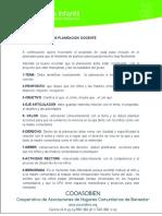 planeacion docente institucional membrete.