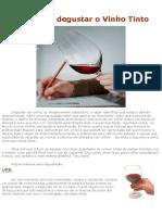 Aprenda a Degustar o Vinho
