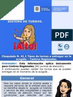 7. SISTEMA DE TURNOS - Centros Regionales