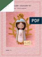 Virgen de Lujan CROCHET RO AMIGURUMIS