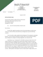 20110113 Letter Re Form 18
