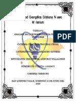 TAREA NUMERO 2 ANALISIS DE LA JURISPRUDENCIA PENAL EN HONDURAS PRACTICA PROCESAL PENAL  JOEL ANDURAY
