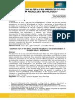 DEGRADAÇÃO DOS MATERIAIS EM AMBIENTES DO PRÉ- SAL - UMA ABORDAGEM TECNOLÓGICA - 2016