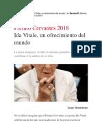 Monteleone, Jorge - Ida Vitale, un ofrecimiento del mundo