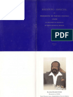 Estatuto especial do presidente do partido político UNITA (1997)
