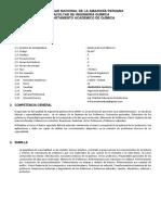 Sìlabo del curso de  Quìmica de los polìmeros (1)