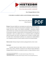 O TEATRO E AS ARTES NA EDUCAÇÃO INTEGRAL OMNILATERAL UNICAMP