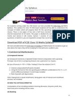 byjus.com-ICSE Class 10 Maths Syllabus