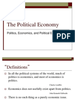 Topic 1_Politics, Economics, and Political Economy_Introduction
